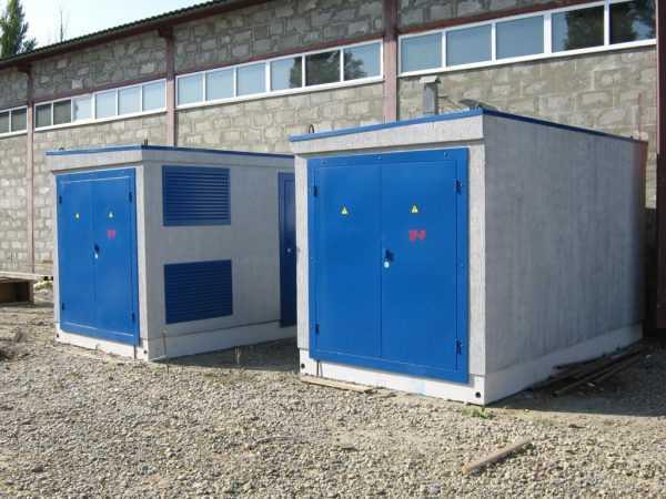 БКТП - бетонная однотрансформ